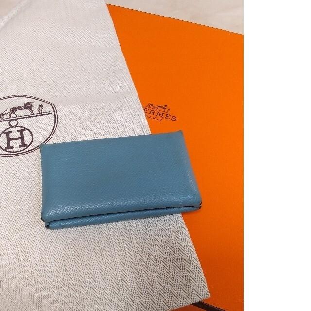 Hermes(エルメス)のHERMES カルヴィ 名刺入れ コインケース ブルージーン レディースのファッション小物(名刺入れ/定期入れ)の商品写真