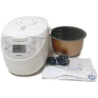 トウシバ(東芝)の東芝 炊飯器 5.5合 マイコン式 銅コート釜 ホワイト RC-10MFH-W(炊飯器)