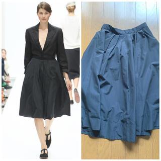 MARGARET HOWELL - 定価4万円 美品 マーガレットハウエル シルクコットン ギャザースカート