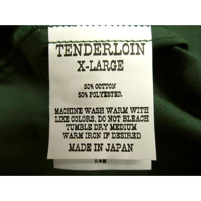 TENDERLOIN(テンダーロイン)のXLサイズ 美品 テンダーロイン バック ロゴ オープンカラー ワーク シャツ メンズのトップス(シャツ)の商品写真