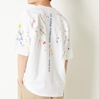 CONVERSE - コンバーストウキョウ ペイント ペンキ メッセージ プリント Tシャツ トップス