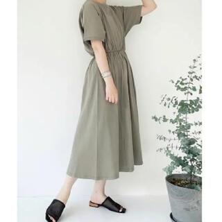 シマムラ(しまむら)のしまむら てらさん コラボ terawear emu ワンピース 濃緑 (ロングワンピース/マキシワンピース)