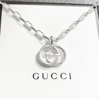 Gucci - 正規品 グッチ ネックレス シルバー SV925 GG インターロッキング 12