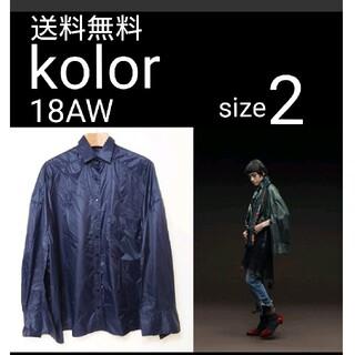 kolor オーバーサイズ ナイロンシャツ 2 冷房対策にも TC