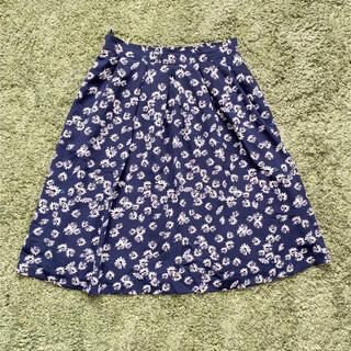 インデックス(INDEX)のデイジー柄♡タックフレアスカート(ひざ丈スカート)