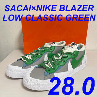 28.0 SACAI × NIKE BLAZER CLASSIC GREEN