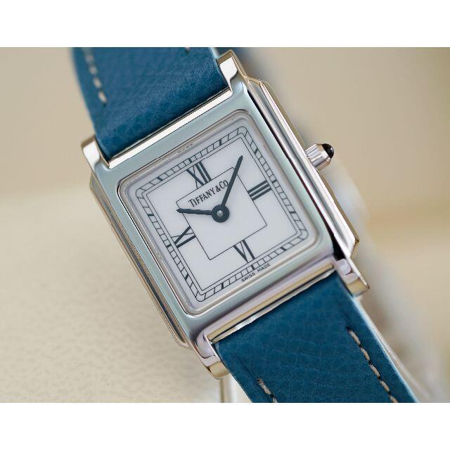 Tiffany & Co.(ティファニー)の美品 ティファニー クラシック スクエア シルバー ローマン レディース  レディースのファッション小物(腕時計)の商品写真