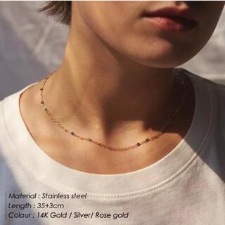 Ameri VINTAGE - 錆びない316L♡フリルネックレス ゴールド