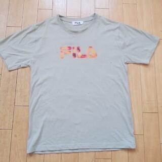 フィラ(FILA)のFILA メンズ カーキベージュ 半袖Tシャツ M(Tシャツ/カットソー(半袖/袖なし))