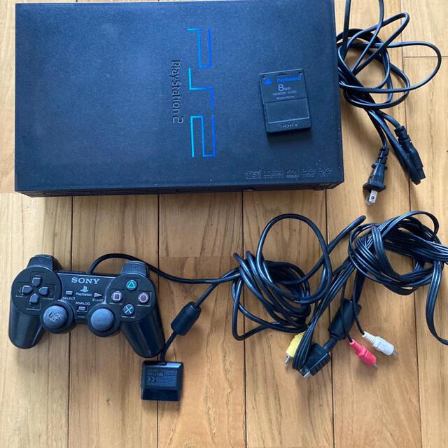 PlayStation2(プレイステーション2)のPS2 本体 ソフト付き エンタメ/ホビーのゲームソフト/ゲーム機本体(家庭用ゲーム機本体)の商品写真
