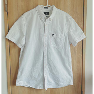 アメリカンイーグル(American Eagle)のアメリカンイーグル ホワイト 半袖シャツ メンズ 白シャツ(シャツ)