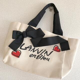LANVIN en Bleu - ランバンオンブルー トートバッグ リボン ハート バッグ ランバン鞄