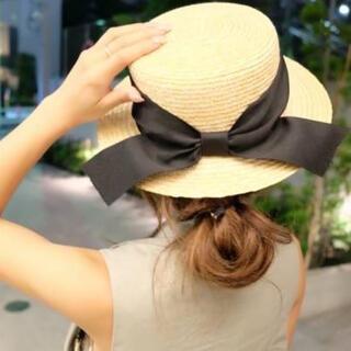 エイミーイストワール(eimy istoire)のeimy istoire ribbon straw boater hat(麦わら帽子/ストローハット)