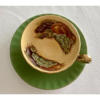 エインズレイ(Aynsley China)のAYNSLEY エインズレイ オーチャードゴールド カップ&ソーサー グリーン(食器)