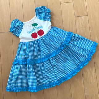 Shirley Temple - シャーリーテンプル🎀チェリー🍒ワンピース 110  ブルー