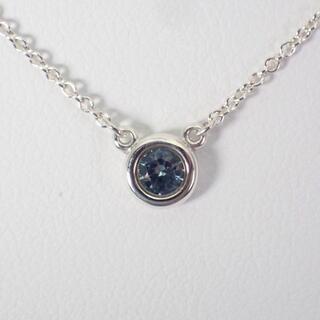 Tiffany & Co. - ティファニー 925 アクアマリン バイザヤード ネックレス [g476-23]