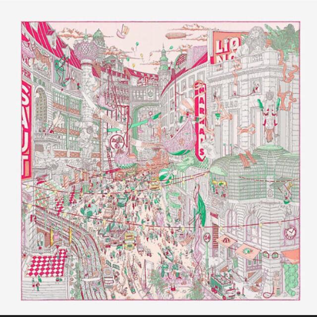 Hermes(エルメス)の激レア!新品 エルメス カレ フォーブルのグランプリ ピンク ウーゴガットーニ ハンドメイドのファッション小物(スカーフ)の商品写真