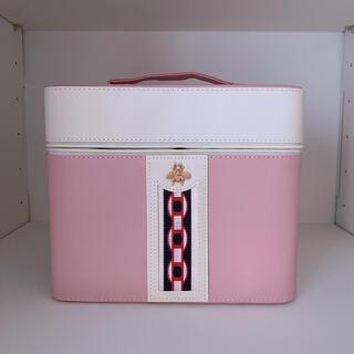 化粧品収納ボックス ピンク(メイクボックス)