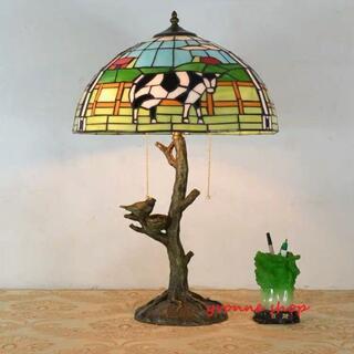 ステンドグラスランプ 卓上スタンド 豪華テーブルランプ