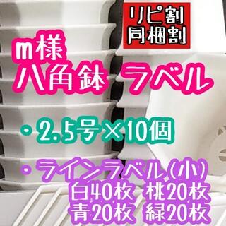 m様 八角鉢 ラベル(その他)