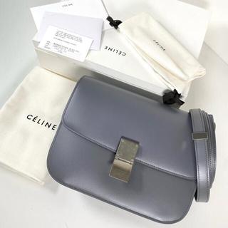 celine - 【新品同様】セリーヌ クラシック ボックス ミディアム グレー ショルダーバッグ