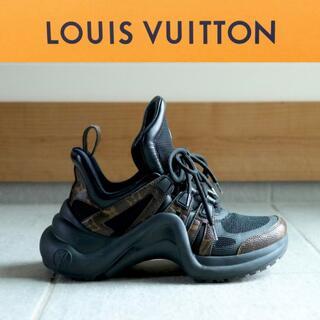 LOUIS VUITTON - LOUIS VUITTON◆LVアークライト ライン スニーカー ブラック 36