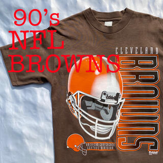 ナイキ(NIKE)の90's Browns NFL ブラウンズ アメフヴィンテージ ビンテージ(Tシャツ/カットソー(半袖/袖なし))