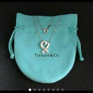 Tiffany & Co. - 正規品♡TIFFANY♡ティファニー ラビングハートネックレス♡保存袋付き