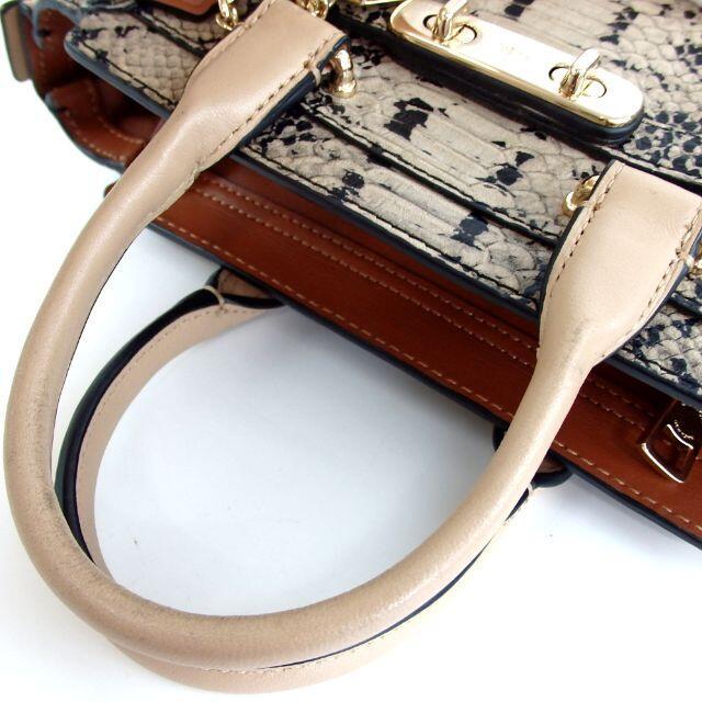 COACH(コーチ)のコーチ 蛇革 ハンドバッグ レザー 31-37 レディースのバッグ(ハンドバッグ)の商品写真