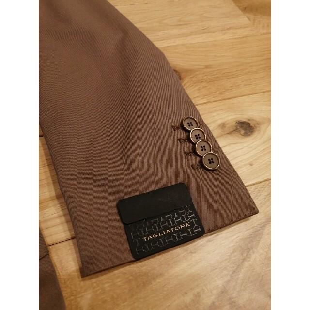BARNEYS NEW YORK(バーニーズニューヨーク)の新品未使用タリアトーレ ソラーロ コットンスーツ46 ライトブラウン メンズのスーツ(セットアップ)の商品写真