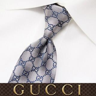 グッチ(Gucci)の【51】 GUCCI ライトグレー SILK ネクタイ(ネクタイ)