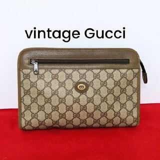 グッチ(Gucci)の良品 レア!Gucci GG柄ビンテージクラッチバッグ セカンドバッグ 希少(クラッチバッグ)