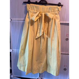 ザラ(ZARA)のZARA黄色スカート(ひざ丈スカート)
