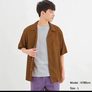 ジーユー(GU)のGU オープンカラーシャツ 半袖 5分袖 新品未使用 Lサイズ(シャツ)