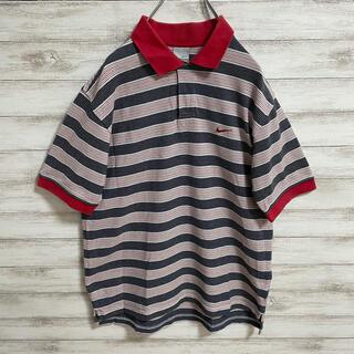 ナイキ(NIKE)のNIKE ナイキ ポロシャツ ボーダー 刺繍ロゴ(ポロシャツ)