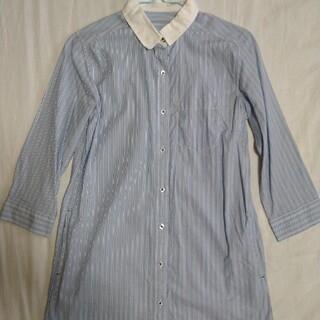 ジーユー(GU)のGU ストライプのシャツワンピース(ひざ丈ワンピース)