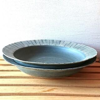 ハサミ(HASAMI)のシャビーシック カレー皿 グレー系 2枚セット 波佐見焼 和山 パスタ皿 人気(食器)
