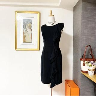 PRADA - 美品 シルク プラダ フリル lady ワンピース ドレス