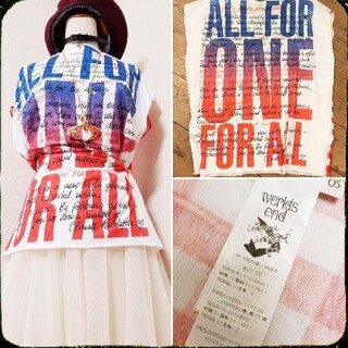 Vivienne Westwood - 新品・ALL FOR ONE Square Tshirt・気候変動