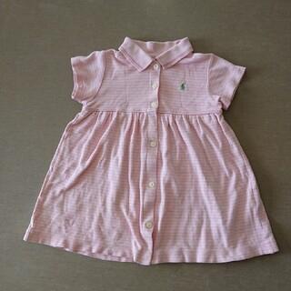 ラルフローレン(Ralph Lauren)のラルフローレン 女の子 ポロ ワンピース 80 ピンク(ワンピース)