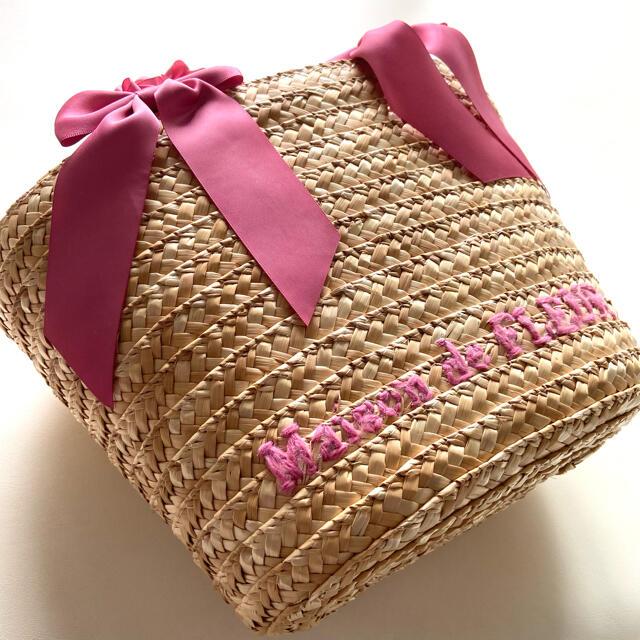 Maison de FLEUR(メゾンドフルール)の新品未使用 メゾンドフルール カゴバッグ リボン フリル レディースのバッグ(かごバッグ/ストローバッグ)の商品写真