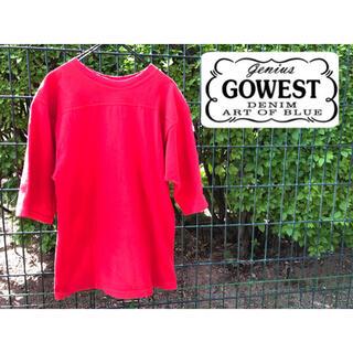 ゴーウエスト(GOWEST)のgowest ゴーウエスト ヘビーウェイト tシャツ  五分丈 ロンt シャツ(Tシャツ/カットソー(半袖/袖なし))