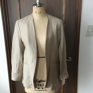 ViS - 新品タグ付✴︎ViS麻混ノーカラージャケット