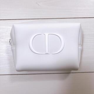 クリスチャンディオール(Christian Dior)のDIOR ノベルティ ポーチ ホワイト(ノベルティグッズ)