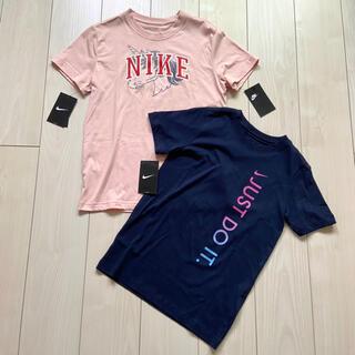 ナイキ(NIKE)の新品 NIKE 半袖 Tシャツ 女の子 150 まとめ売り ピンク ネイビー(Tシャツ/カットソー)