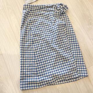 ザラ(ZARA)のZARAスカート巻きスカート美品 ほぼ未使用(ひざ丈スカート)
