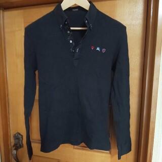BURBERRY BLACK LABEL - BURBERRY BLACK LABEL ポロシャツ 長袖 モノグラム 日本製
