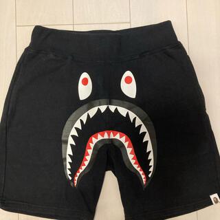 アベイシングエイプ(A BATHING APE)のBAPE Shark Sweat Shorts Black/Black シャーク(ショートパンツ)
