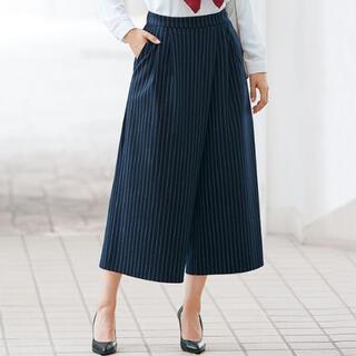 Belluna - 【ベルーナ】ラップスカート風シルエット ガウチョパンツ