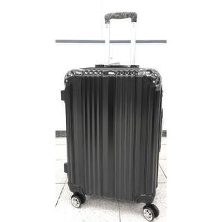 大型軽量スーツケース 8輪キャリーバッグ TSAロック付き Lサイズ 黒(旅行用品)